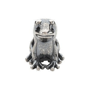 Sterling Silver 13x11mm Frog Bead
