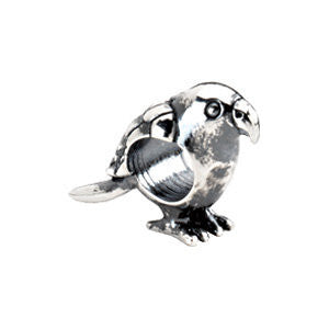 Sterling Silver 16.75x10.25mm Parrot Bead
