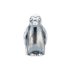 Sterling Silver 11.25x8mm Penguin Slider Bead