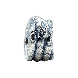 Sterling Silver 8.75x5.75mm Snake Bead