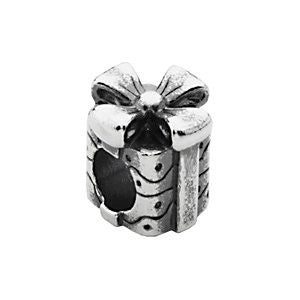 Sterling Silver 10mm Gift Slider Bead