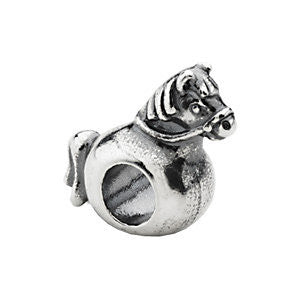 Sterling Silver 16.75x14.25mm Rocking Horse Slider Bead