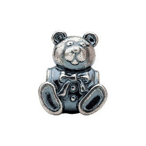 Sterling Silver 15x12.25mm Bear Slider Bead