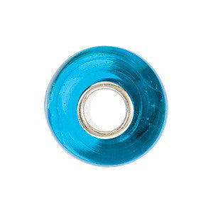 Sterling Silver 15x9mm Turquoise Bead with Blue Stripes