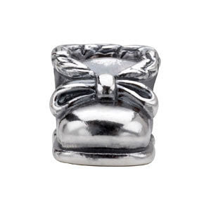 Sterling Silver 8.2x7.9mm Baby Shoe Bead
