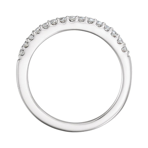 14k White Gold 1/4 CTW Diamond Band for 6.5mm Engagement, Size 7