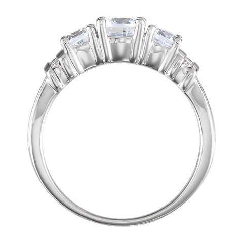 14k White Gold 1 1/6 CTW Diamond Anniversary Band, Size 7