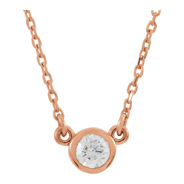 "14k Rose Gold 1/6 CTW Diamond 18"" Necklace"