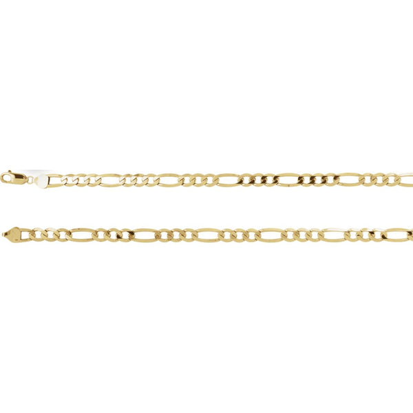 "14k Yellow Gold 6.5mm Figaro 18"" Chain"