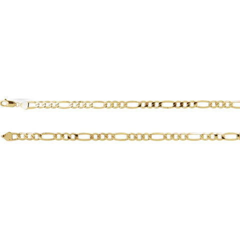 6.5 mm Figaro Chain in 14k Yellow Gold ( 16-Inch )