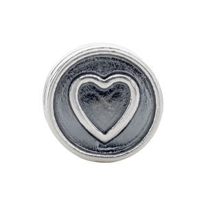 Sterling Silver 10.5x7.25mm Heart Cylinder Bead
