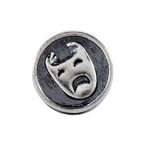 Sterling Silver 10.6mm Comedy/Tragedy Bead