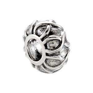 Sterling Silver 11.25x6.5mm Decorative Bead