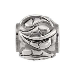 Sterling Silver 10.75x10.25mm Ivy Leaf Bead