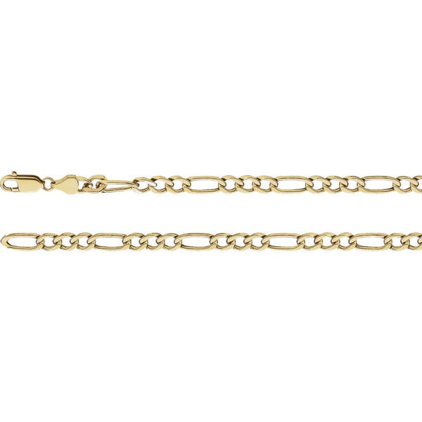 "14k Yellow Gold 4.75mm Hollow Figaro 16"" Chain"