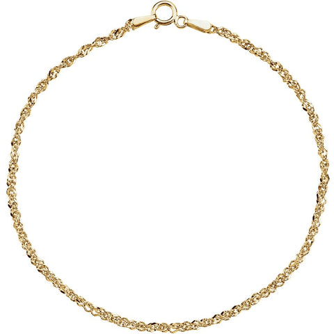 "14k Yellow Gold 1.75mm Sparkling Singapore 18"" Chain"