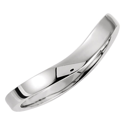 14k White Gold Stackable Ring, Size 6