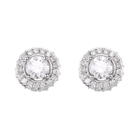 14k White Gold 3/4 CTW Diamond Earrings