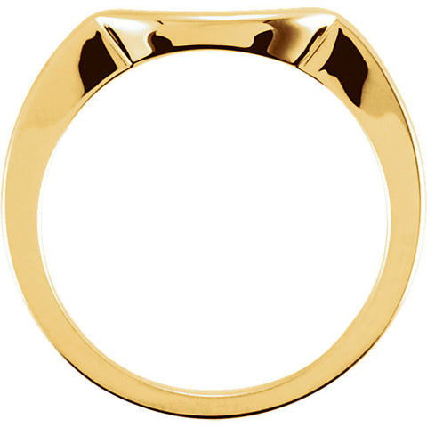 18k Yellow Gold Band for 4.1mm Engagement Ring, Size 6