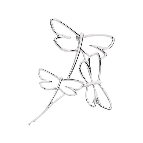 Sterling Silver Dragonfly Fashion Brooch