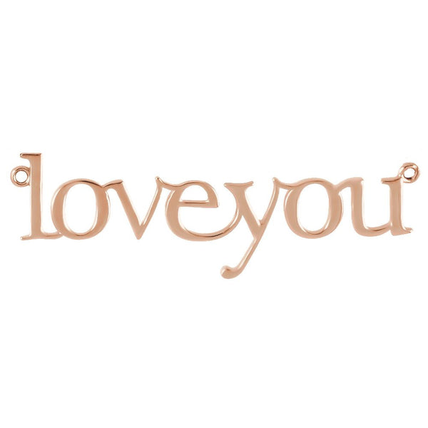 "14k Rose Gold ""Love You"" Neck Trim Pendant Mounting"