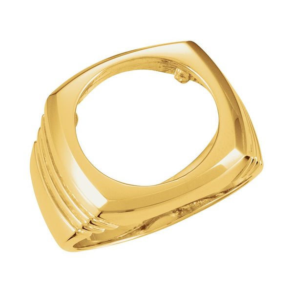 14k Yellow Gold Men's Coin Ring, Size 6