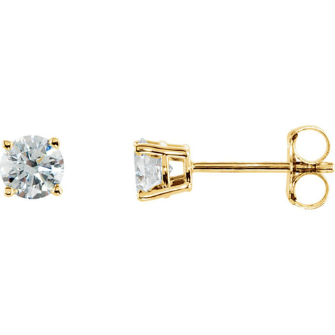 14k Yellow Gold 1/2 CTW Diamond Earrings