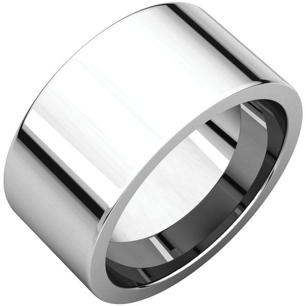 Sterling Silver 10mm Flat Band, Size 7