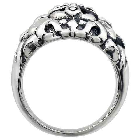 Sterling Silver Men's Cross Fashion Ring, Size 10