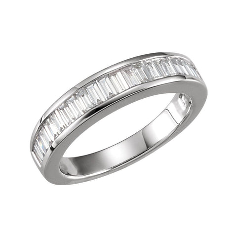 14k White Gold 3/4 CTW Diamond Anniversary Ring Size 5