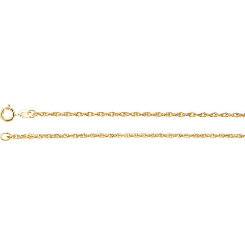 1.5 mm Solid Rope Chain in 14k Yellow Gold ( 16-Inch )