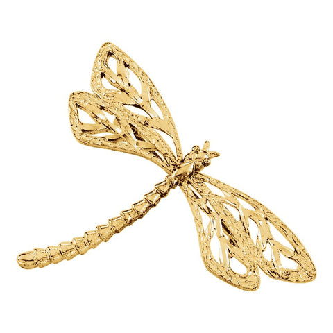 24.00x40.25 mm Dragonfly Brooch in 14K Yellow Gold
