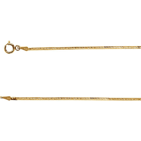 1.5 mm Flexible Herringbone Chain in 14k Yellow Gold ( 18-Inch )