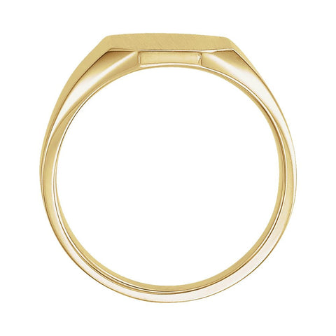 14k Yellow Gold 9x11mm Octagon Signet Ring , Size 6
