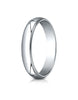 Benchmark-Platinum-4mm-Slightly-Domed-Traditional-Oval-Wedding-Band-Ring-with-Milgrain--Size-4--340PT04