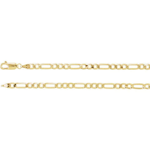 4 mm Figaro Chain in 14k Yellow Gold ( 24 Inch )