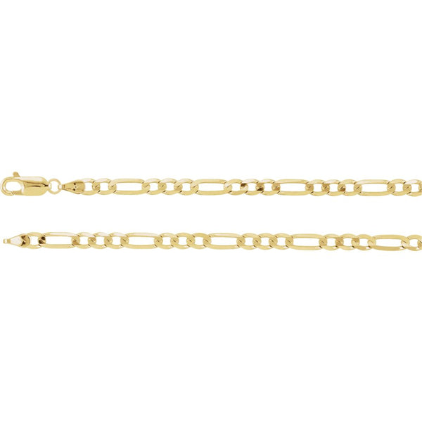 "14k Yellow Gold 4mm Figaro 16"" Chain"