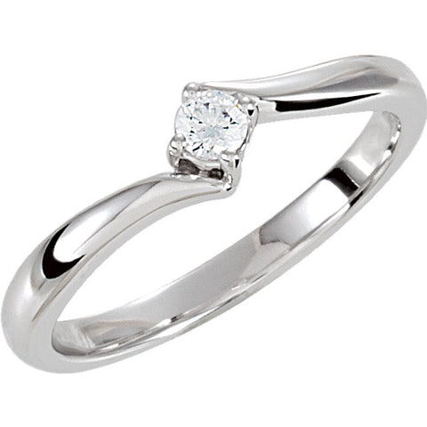 Cubic Zirconia Ring in Sterling Silver ( Size 7 )