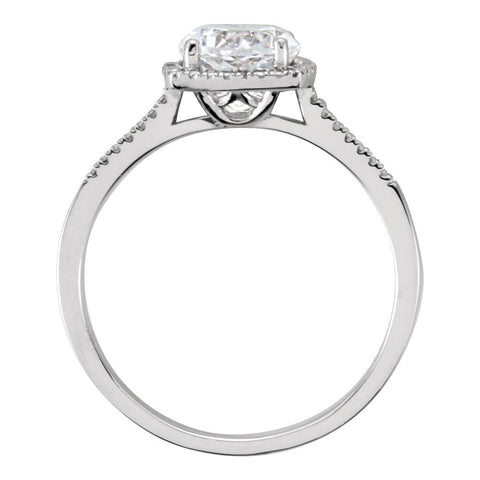 Sterling Silver Lab-Grown White Sapphire & .01 CTW Diamond Ring, Size 6