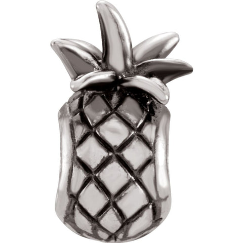 Sterling Silver 13.7x8.2mm Pineapple Bead