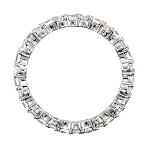Platinum 1 3/4 CTW Diamond Eternity Band Size 7