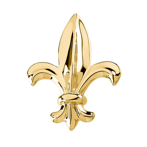 33.00x26.00 mm Fleur De Lis Brooch in 14K Yellow Gold