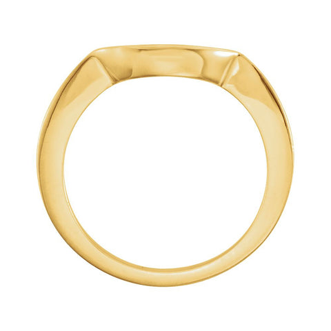 18k Yellow Gold Band for 6.5mm Engagement Ring, Size 6