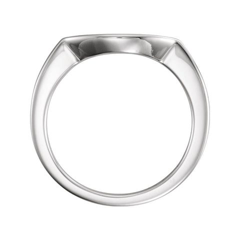 14k White Gold 6.5mm Band, Size 6