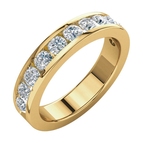 1 1/8 CTTW Diamond Anniversary Band in 14k Yellow Gold (Size 7 )