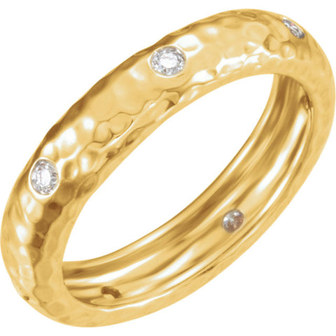 14k Rose Gold 1/6 ctw. Diamond Ring, Size 7