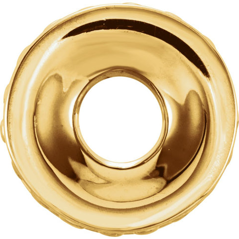 14k Yellow Gold 9mm Roundel Spacer