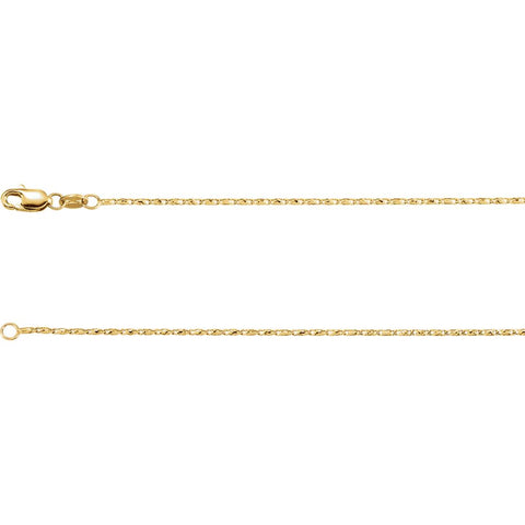 "14k Yellow Gold 1mm Raso 20"" Chain"