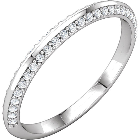 14k White Gold 1/5 CTW Diamond Band, Size 7