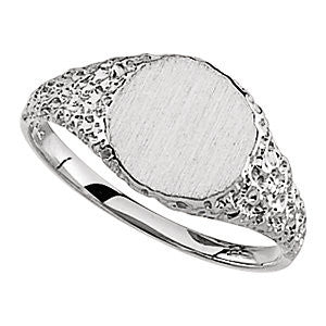 Signet Ring in Sterling Silver ( Size 6 )